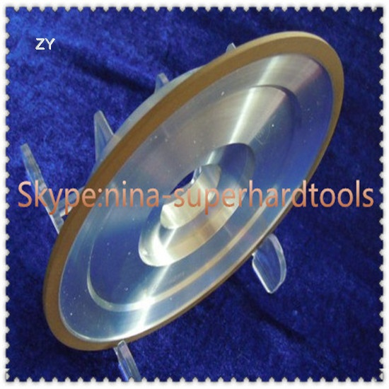 Resin diamond wheels for sharpening cemented carbide